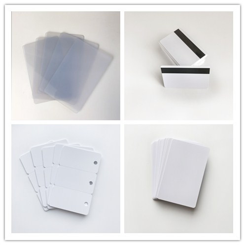 Waterproof inkjet blank pvc card for hotel key card used with 13.56 mhz chip