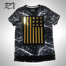 T-shirt embossing print new style mens fashion clothes