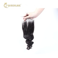 raw virgin cuticle aligned human transparent Lace hair piece from india