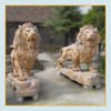 Large outdoor stone animal sculpture marble statue lions for sale