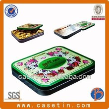 custom pretty large rectangle chinese metal tin box