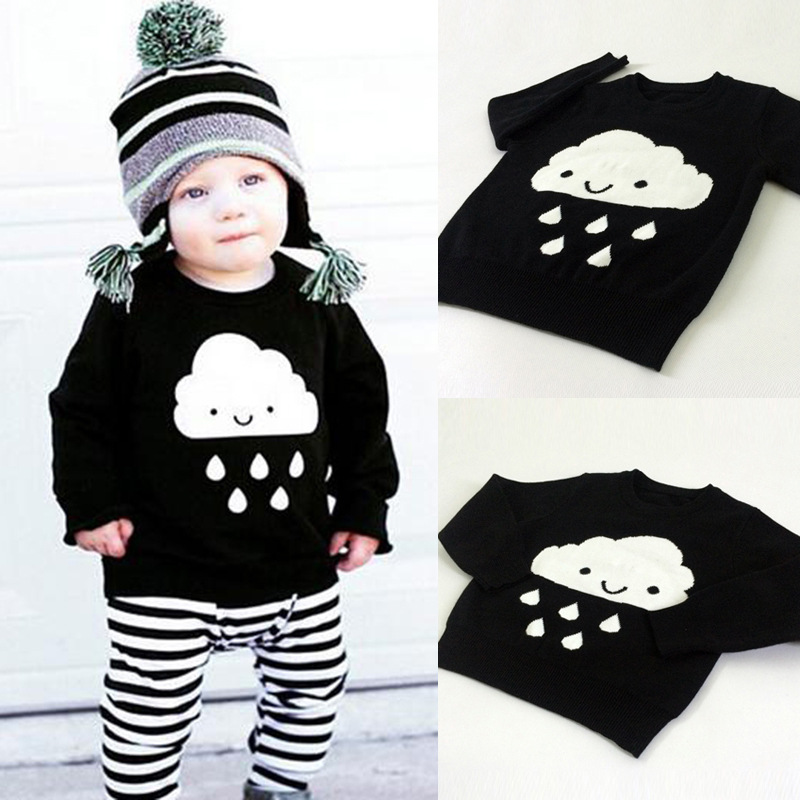 S31437W Fashion Clothing Long Sleeve Tops Wear Kids Sweaters