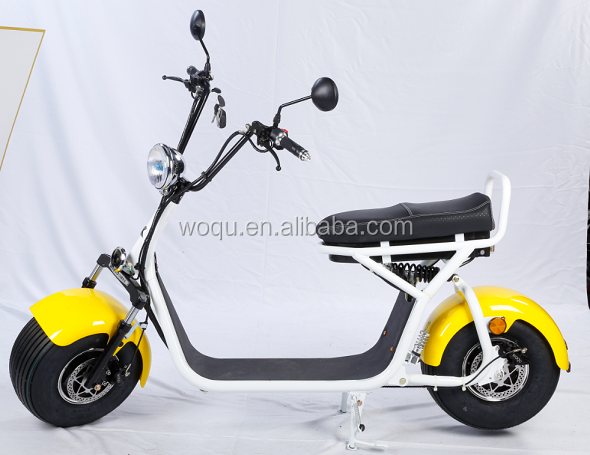 New arrival WOQU X1 model harley headlight 2seat 2wheel with CE certificate electric scooter