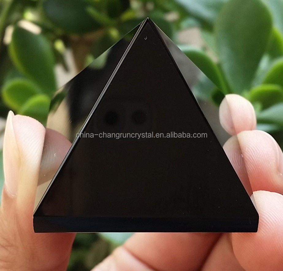 Hot sale charming quartz crystal obsidian pyramid for healing/crystal singing pyramid paper weight