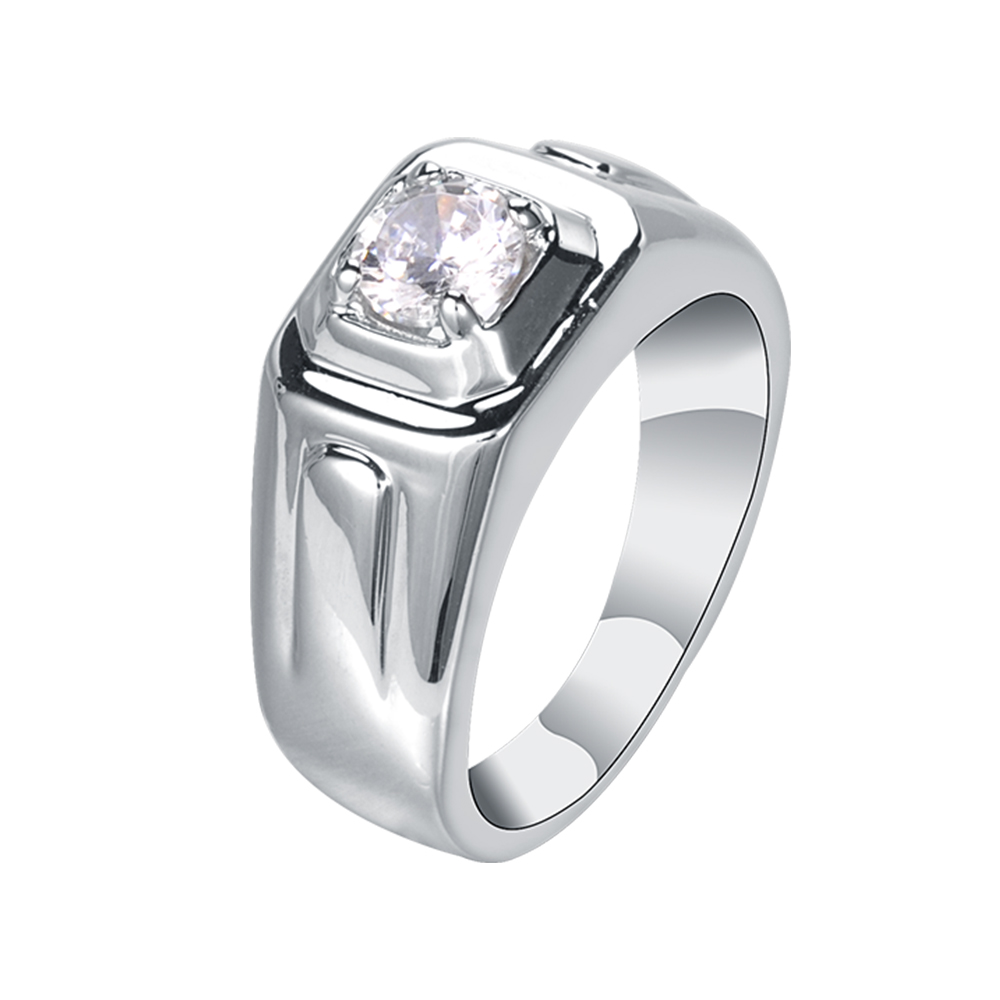 Gravity Wholesale Fashion Diamond Engagement Rings Jewelry Men 925 Sterling Silver Color White Gold Men Ring Buy High Quality Rings Jewelry Men 925 Sterling Silver Square Crystal White Gold Men Ring Saudi Gold
