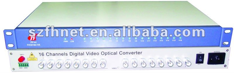 16 CH Video digital converter with 16-ch Video+ 1-ch reverse Data