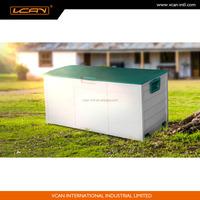 UK Easy assemble plastic outdoor storage box,lockable plastic garden storage box with wheels and handles, plastic tool box