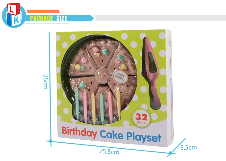 2017 new arrivals kids plastic party birthday cake toys kitchen play set for sale