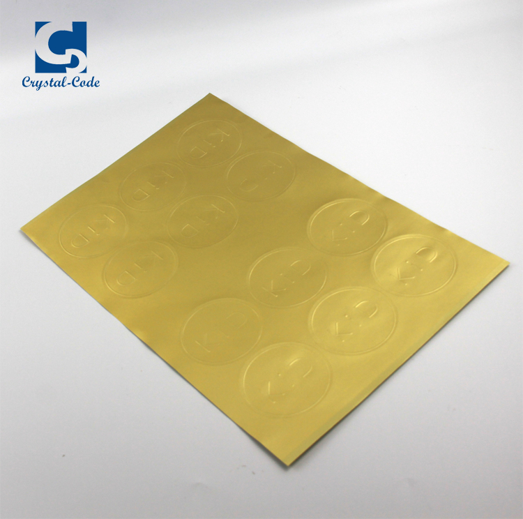 Low cost wholesale metallic sticker gold sticker