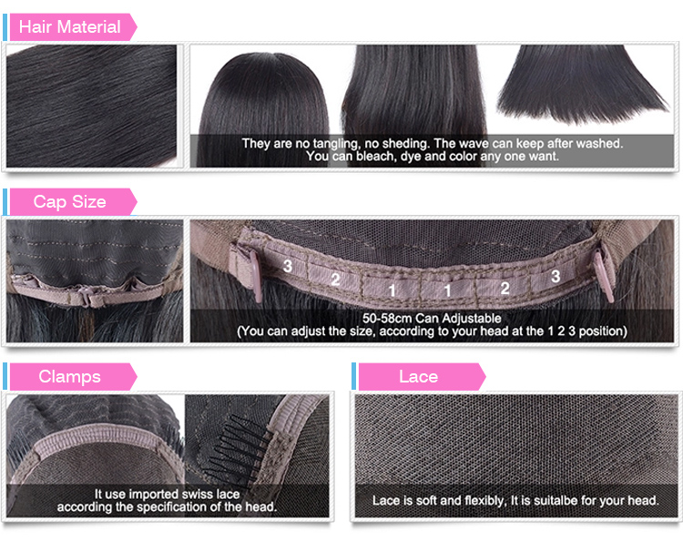Wholesale High Quality Virgin Hair Natural Hairline Lace Wig 100% Natural Brazilian Human Hair Full Lace Wig Vendors