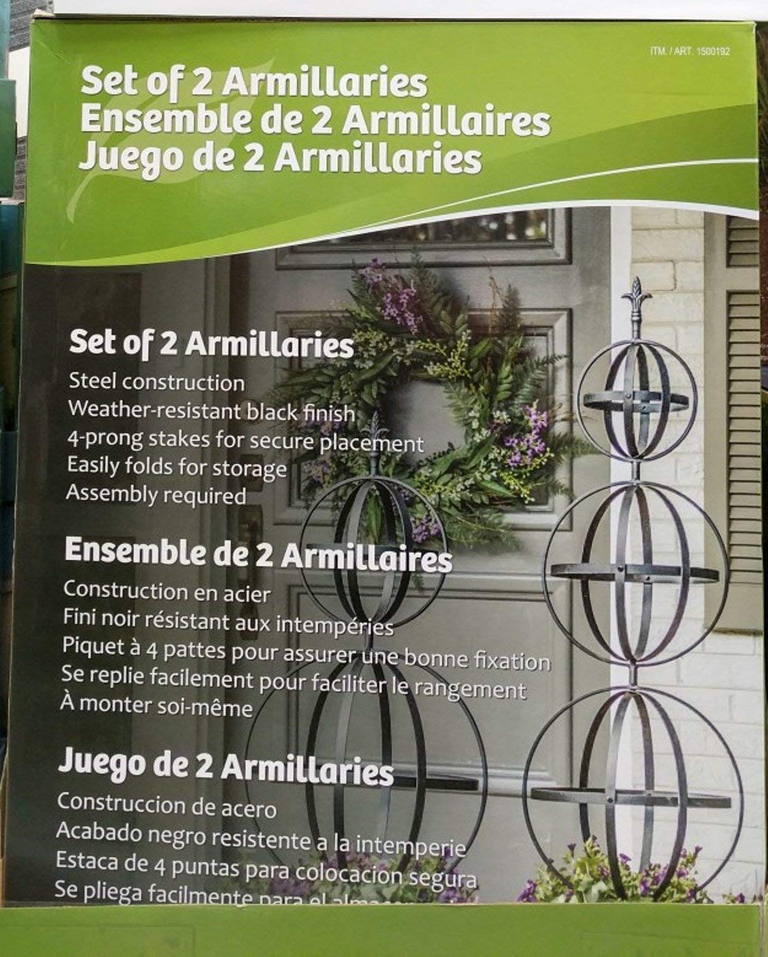 Garden Armillary Stakes – 2 pack