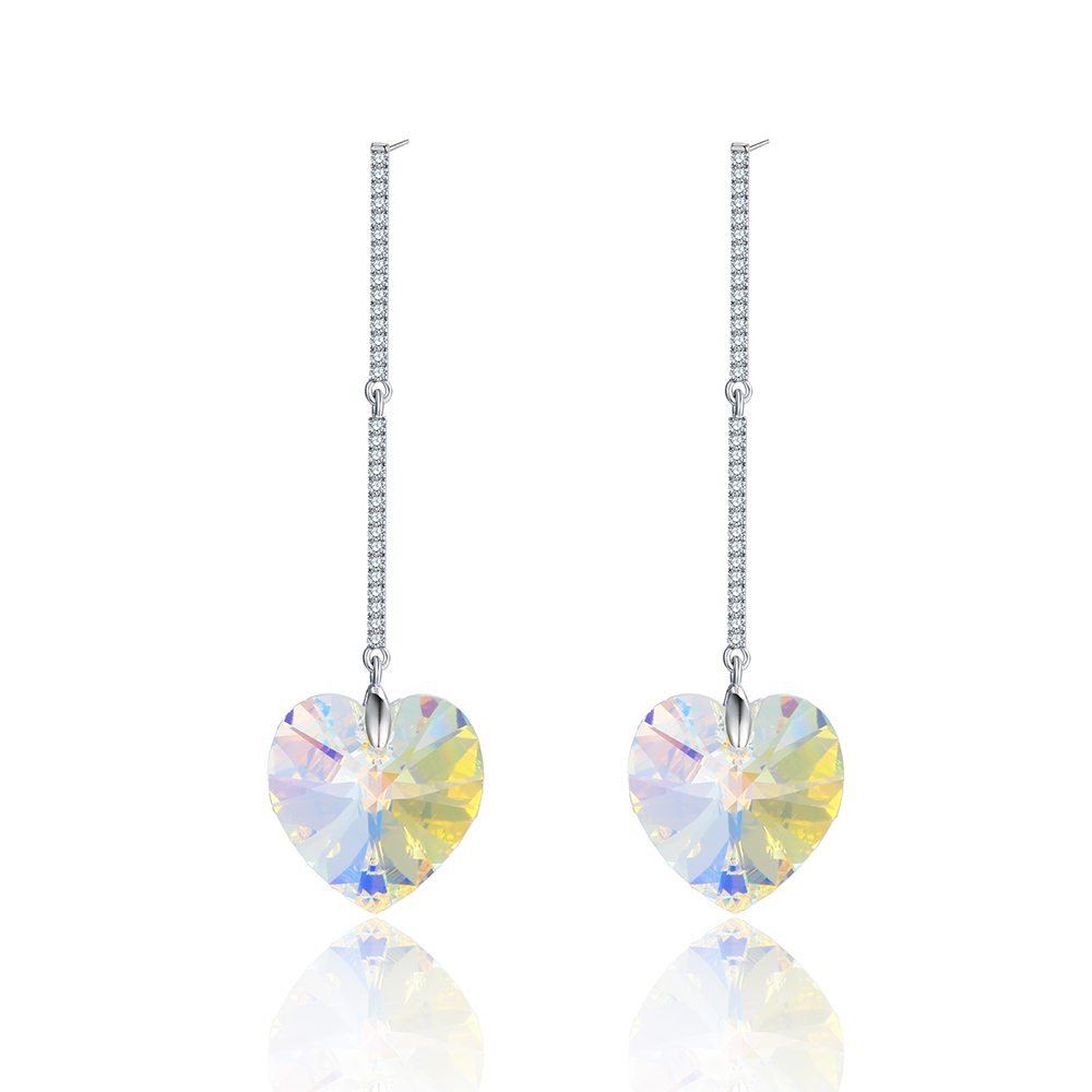 20154 xuping love heart gold plating earring crystals from Swarovski