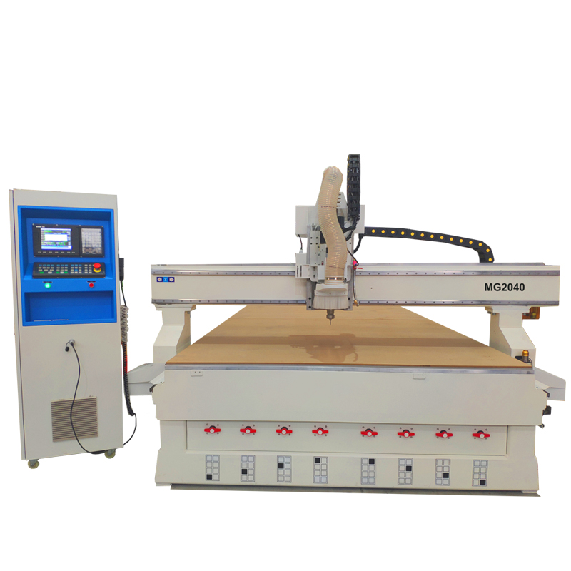 SUDA wood craving cnc router with 6 PCS auto linear tool change