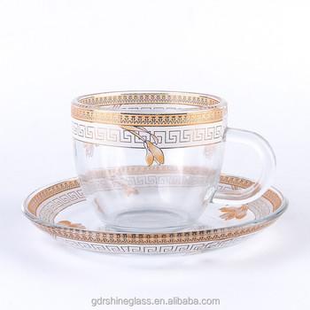 New Type Small Coffee Gl Cups Saucers Tea Mug