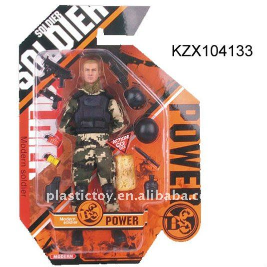 Small plastic soldier toy KZX104133