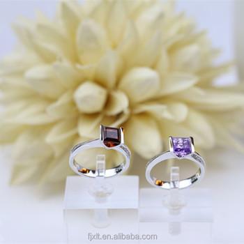 Triangle Shape Single Stone Ring Designs Diamond Price Engagement Wedding Garnet