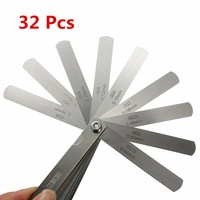 32 Blades Metric Inch Thickness Gage Set Tappet Valve Feeler Gauge Gauges/METRIC