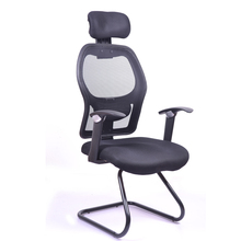 D21d#Heated all mesh office chair without wheels,meeting chair with armrest in office and school supplied