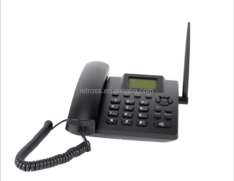 Desktop gsm fwp quad band wireless sim card home telephone