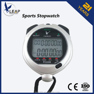 Dual Power Solar Stopwatch with Lap and Split Memory