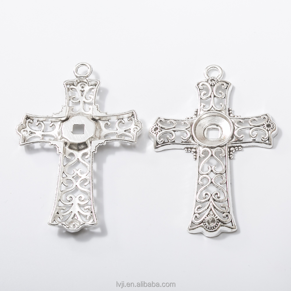 wholesale cross for crafts silver custom charms