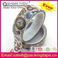 colorful korea adhesive tape manufacturers purple rice paper tape