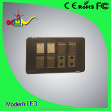 export 8 gang switch for Nepal Bangladesh Pakistan wall switch socket