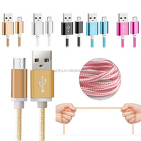 Nylon Braided 25cm Fast Charging USB Data Cable for iphone 6s 7 7 Plus