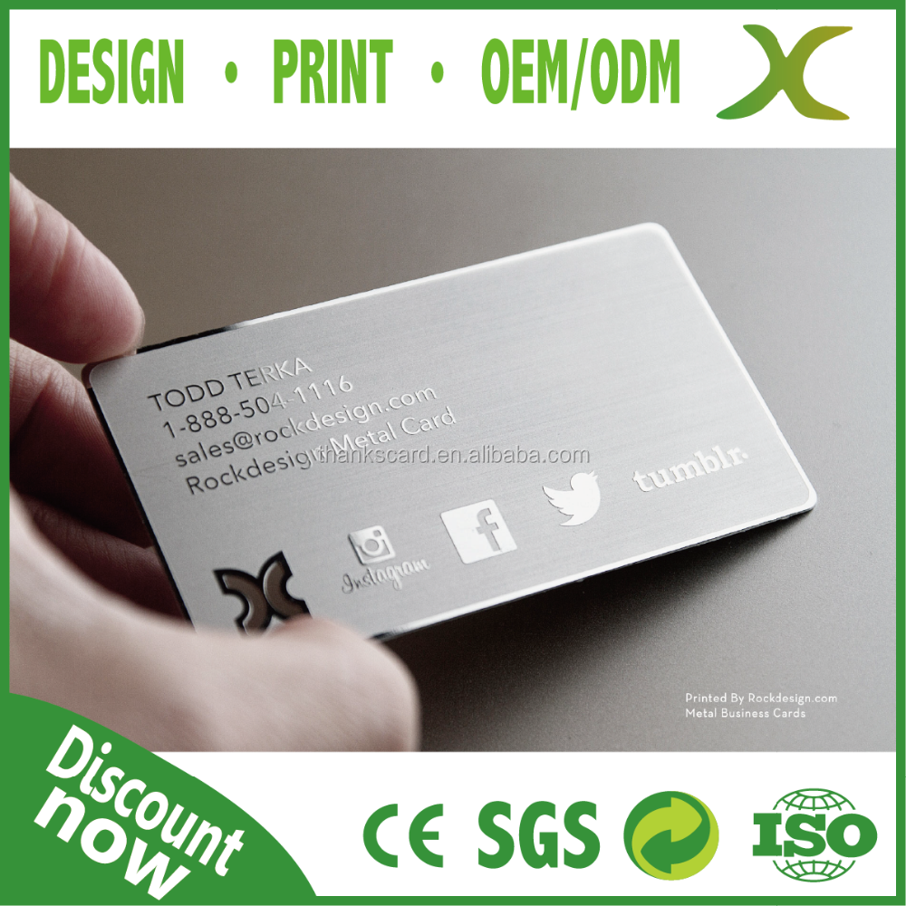 Creative Abnormity business cut card printing