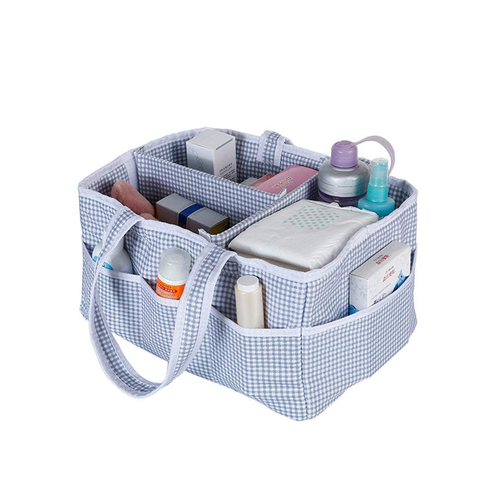 Sammid Foldable Diapers Organizer,Baby Diaper Caddy Nursery Basket,Nursery Storage Bag for Diapers and Baby Wipes