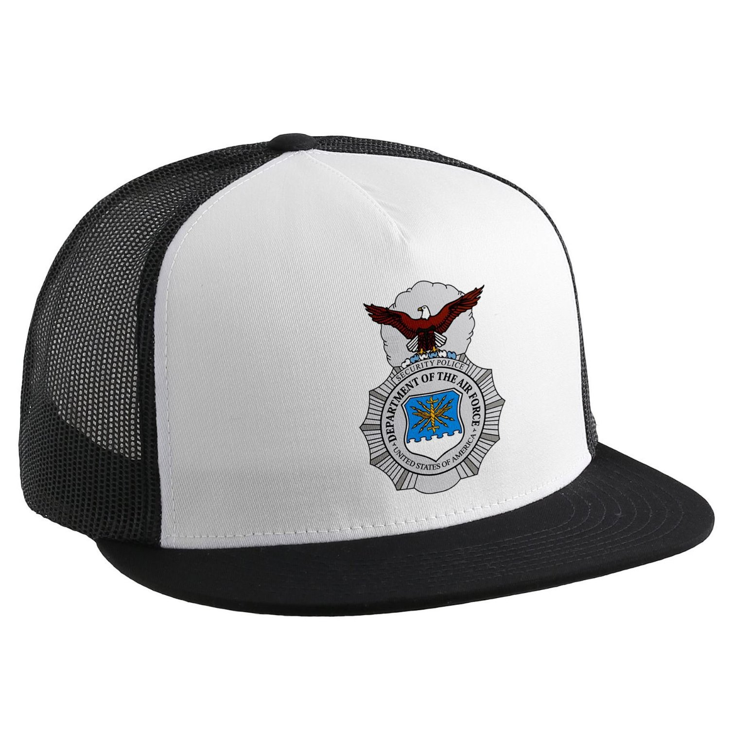 Get Quotations · Trucker Hat with U.S. Air Force Security Forces (AFSC) 207ad9cd4db