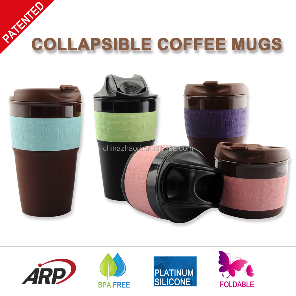 ARP Factory Directly Supply High Quality 350ml 12oz Colored Foldable Silicone Coffee Mug oem