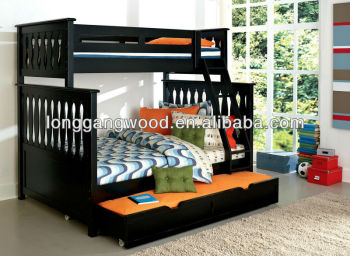 Single Double Bunk Bed With Trundle