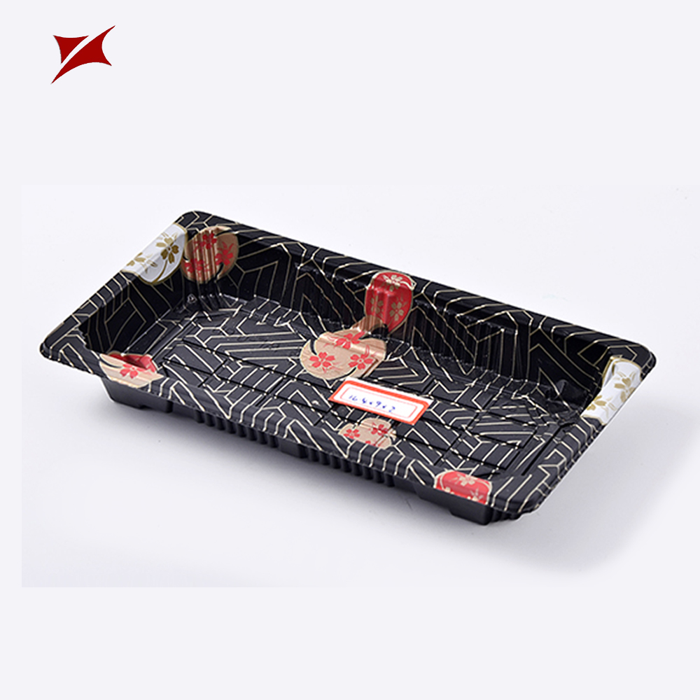 Custom made stamping blister plastic PS tray food sushi packaging box