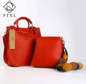 Stxl Women Top Handle Bags Female Designer 2pcs Composite Bag Leather Handbags Pu Handbag