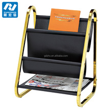 stainless steel newspaper stand magazine rack display for hotel