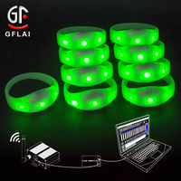 2020 New Arrivals DMX512 Remote Control Blinking LED RFID Wristbands Cost