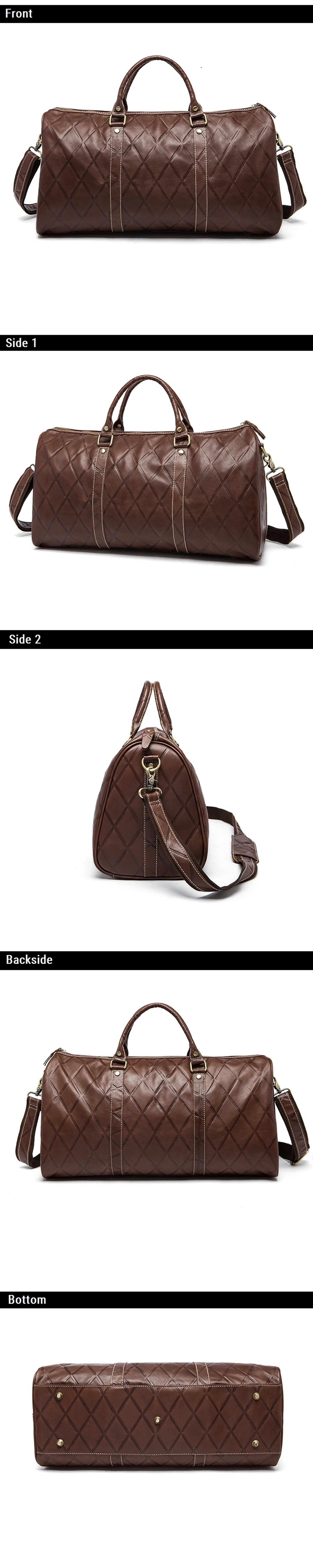 76a67d26fe Vintage crazy horse leather travel bag Real leather boston bag durable duffel  bag FS2189