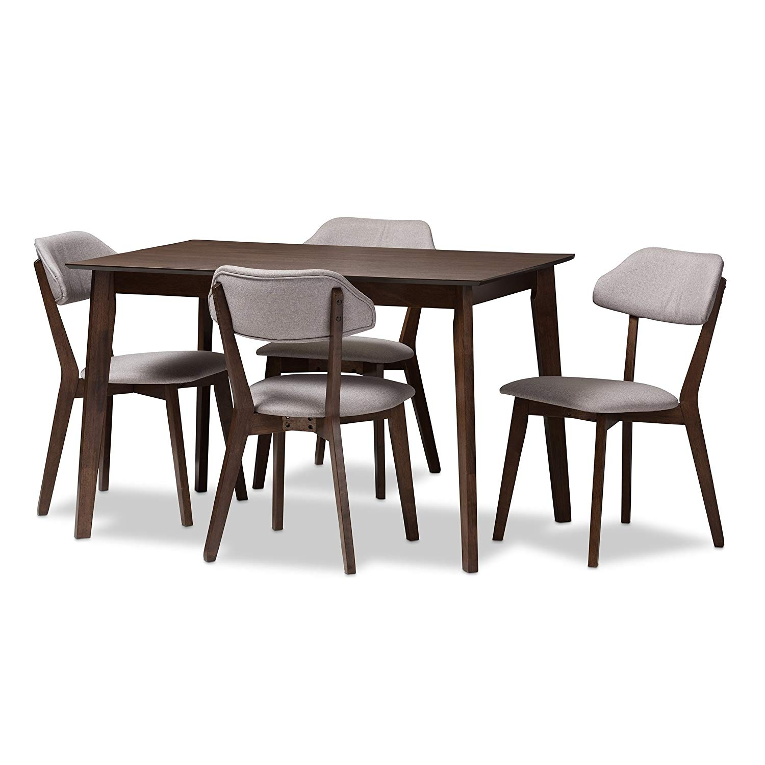 Svitlife Mid-century 5-Piece Dining Set 5 Piece Set Dining Mid Century Modern Table Chairs Style Midcentury Troy
