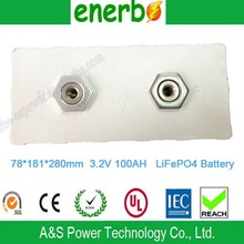 Super Power Lipo Phosphate Battery 3.2V 100AH lifepo4 Battery Cell for Yacht