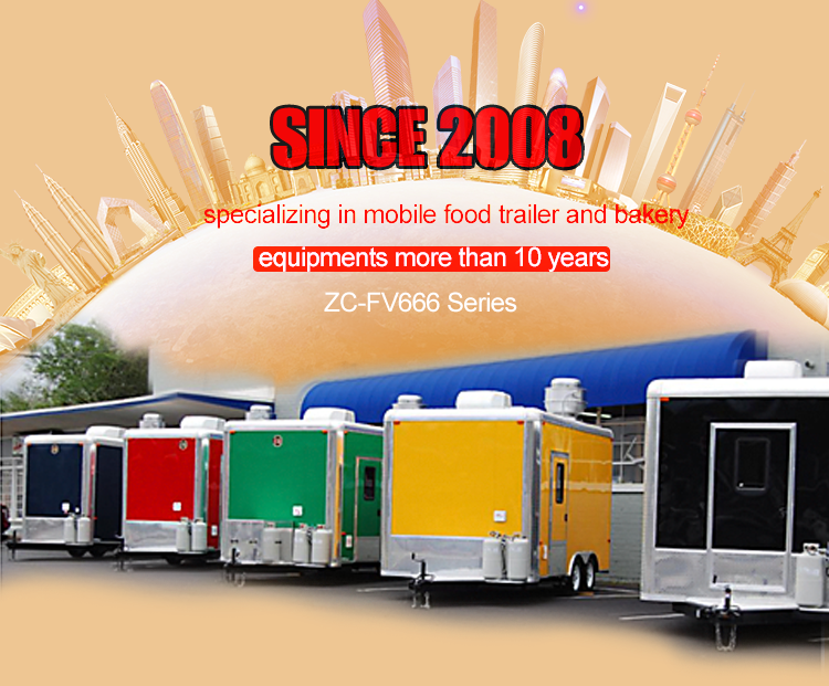 Shanghai factory hot dog food trailer/food van mobile food trailer