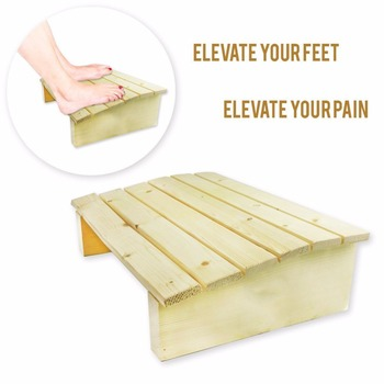Ergonomic Wooden Under Desk Foot Rest for Office Home to Relieve Tendon Pains and Improve Blood Circulation