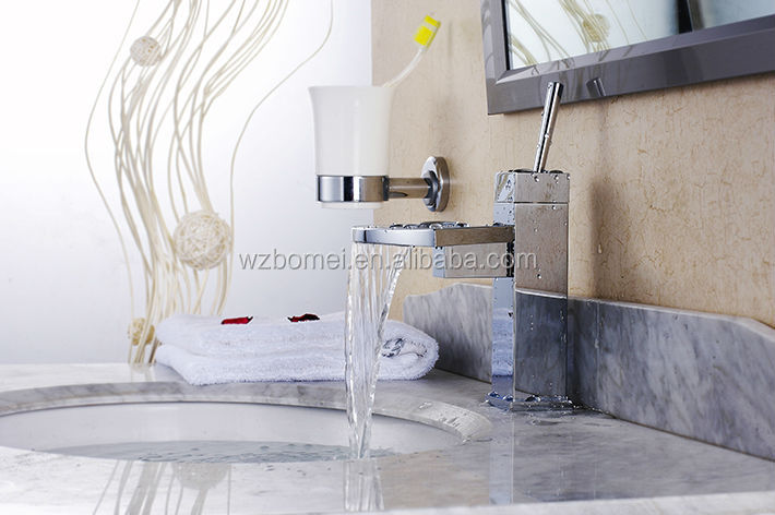 High quality Sector design waterfall tap , bathroom faucet with brass handle