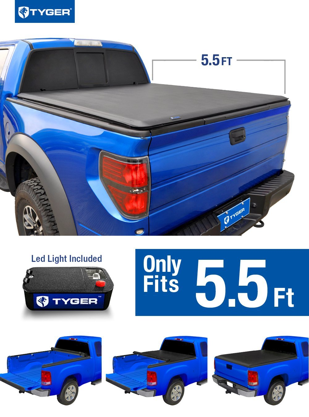 Tyger Auto Tg Bcf Topro Roll Up Truck Bed Tonneau Cover   Ford