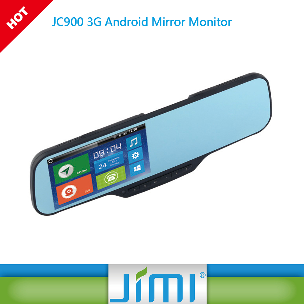 rearview mirror car gps with dvr JC900 car DVR +GPS h.264 dvr motherboard black box car 3g