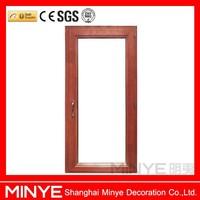 Simple design aluminum cladding wood entry door design