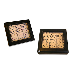 High End Handled Leather Box Domino Set Domino Game Set Wholesale