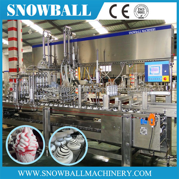 automatic ice cream cone filling and packaging machine