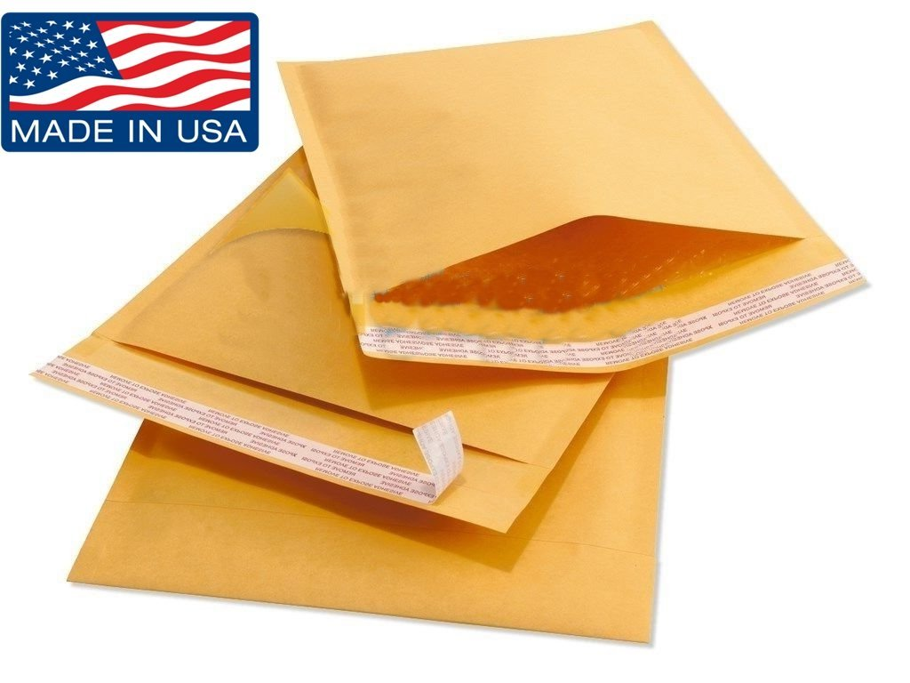 "Wholesale Kraft Bubble Mailers Padded Bubble Envelopes for Ebay Paypal Shipping Envelopes Sizes #0 #00 #000 #1 #2 #3 #4 #5 #6 #7! (#5 - 100 Envelopes - 10.5"" X 16"")"