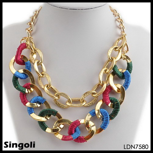 SEX COLOUR GOLD CHAIN COLLAR statement fashion jewelry 2014 wholesale Alibaba in China